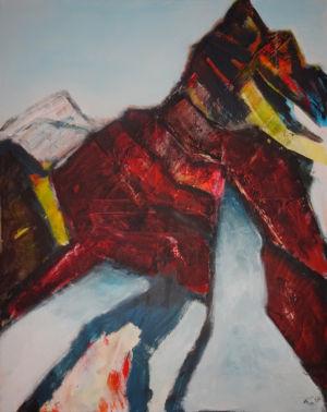 Roter Berg 100 x 70 cm