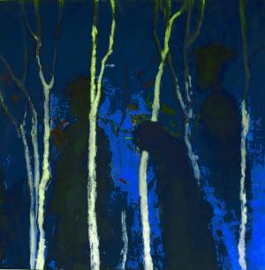 Nachts im Wald 100 x 100 cm